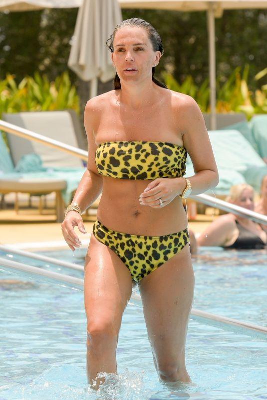 DANIELLE LLOYD in Bikini at a Pool in Dubai 08/19/2018