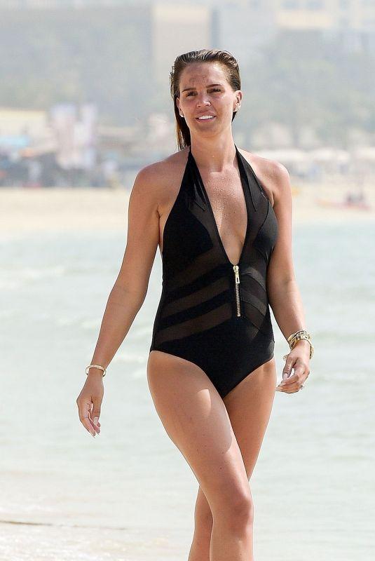 DANIELLE LLOYD in Swimsuit at a Beach in Dubai 08/23/2018