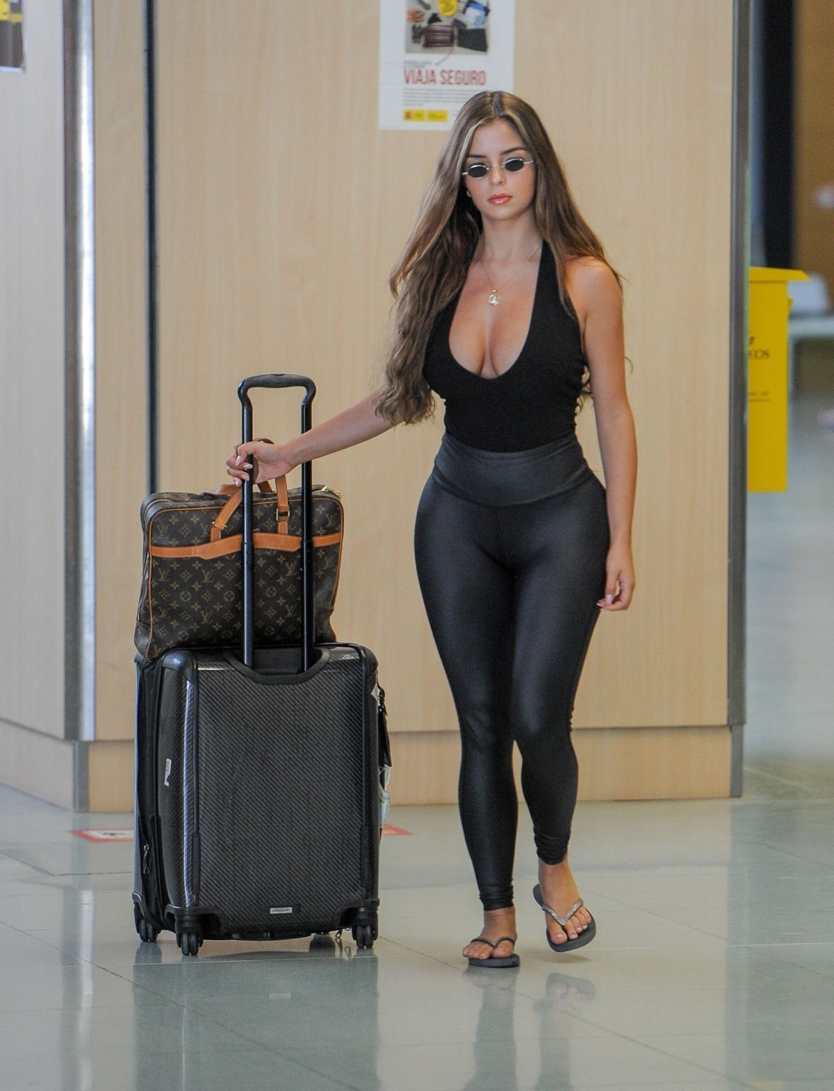 DEMI ROSE MAWBY Arrives at Airport in Ibiza 08/07/2018