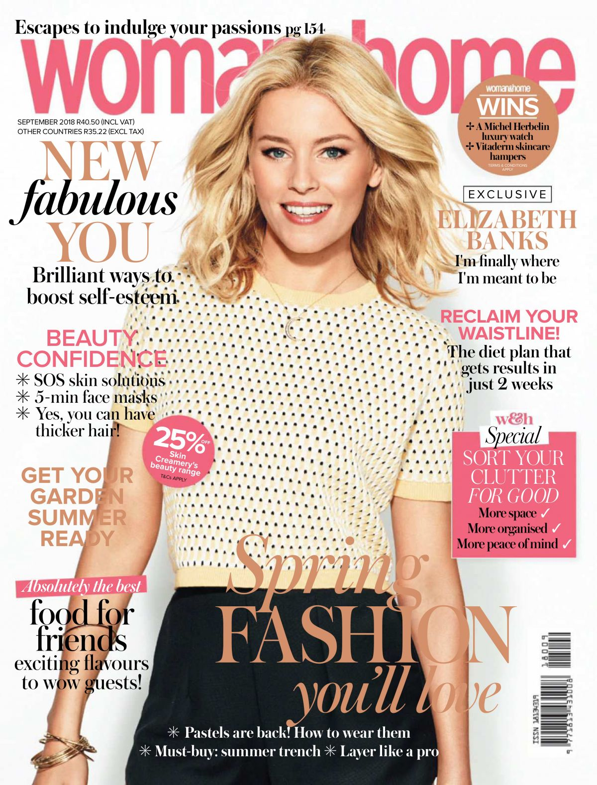 Elizabeth Banks In Woman Home Magazine South Africa September