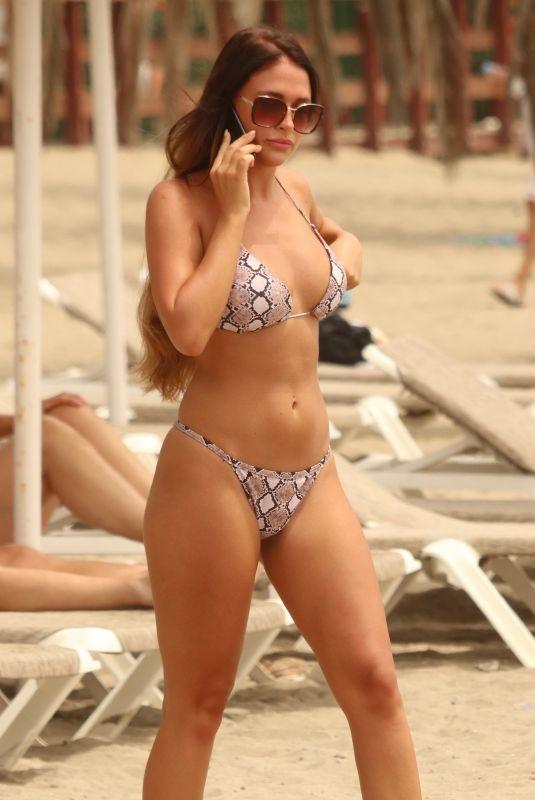 ELLIE JONES in Bikini at a Beach in Marbella 08/04/2018