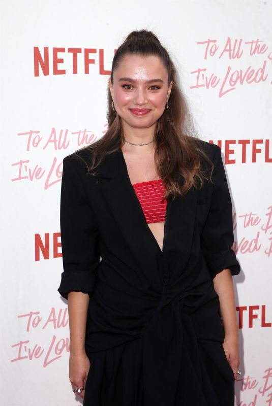 EMILIJA BARANAC at To All the Boys I've Loved Before Screening in Los Angeles 08/16/2018