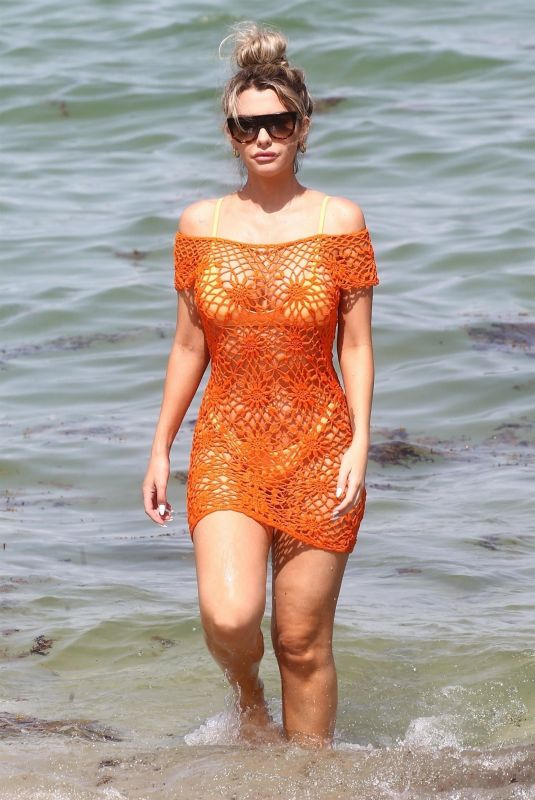 EMILY SEARS in Bikini on the Beach in Miami 08/09/2018