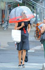 FAMKE JANSSEN Out and About in New York 08/24/2018