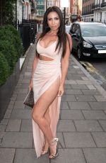 FRANCINE LEWIS at Kiss Nails and Lashes x Billie Faiers Launch Party in London 08/16/2018