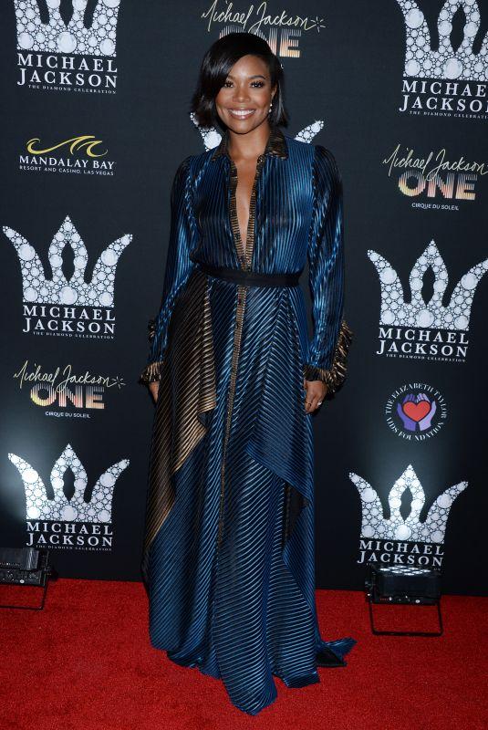 GABRIELLE UNION at Michael Jackson Diamond Birthday Celebration in Las Vegas 08/29/2018