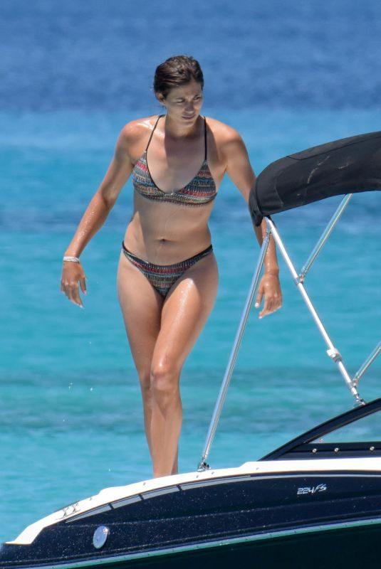 GARBINE MUGURUZA in Bikini at a Boat in Ibiza 06/08/2018