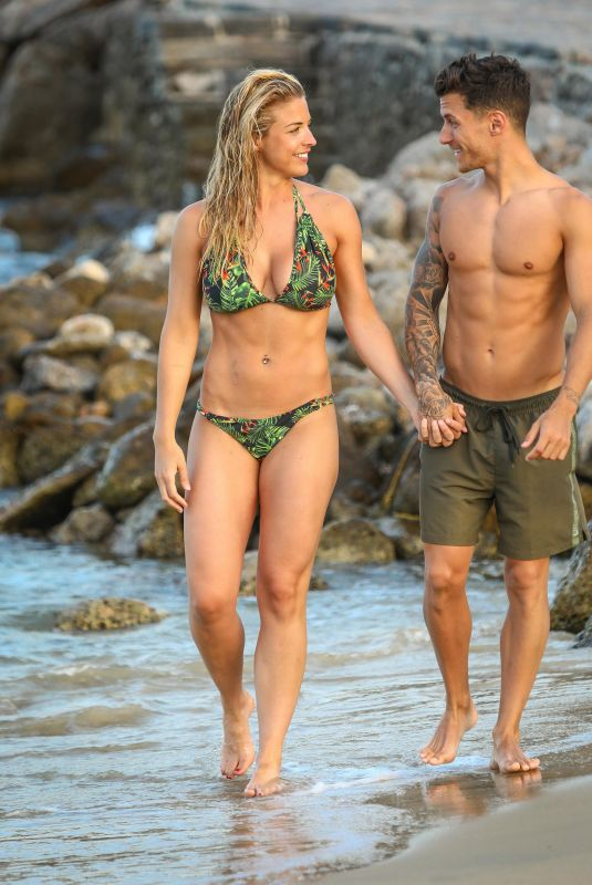 GEMMA ATKINSON in Bikini at a Beach in Crete,July 2018