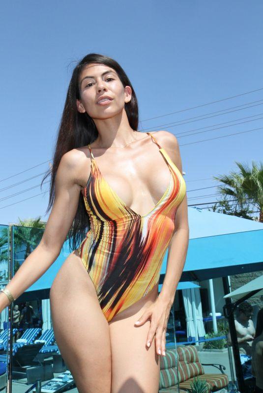 HEATHER VAHN in Swimsuit Hosts Day at Sapphire Dayclub in Las Vegas 08/18/2018
