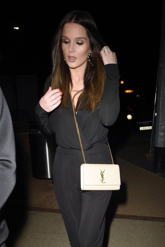 HELEN FLANAGAN at Menagerie Bar and Restaraunt in Manchester 08/11/2018