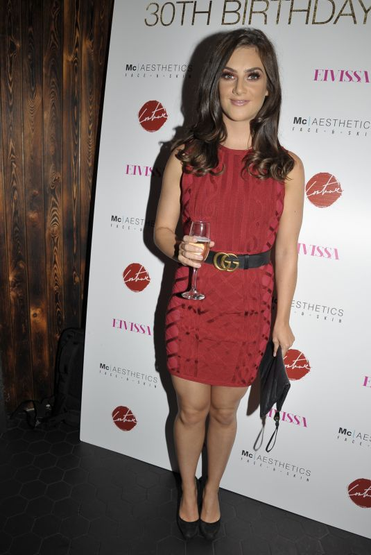 ISABEL HODGINS at Thomas Twins 30th Birthday Party in Manchester 08/11/2018