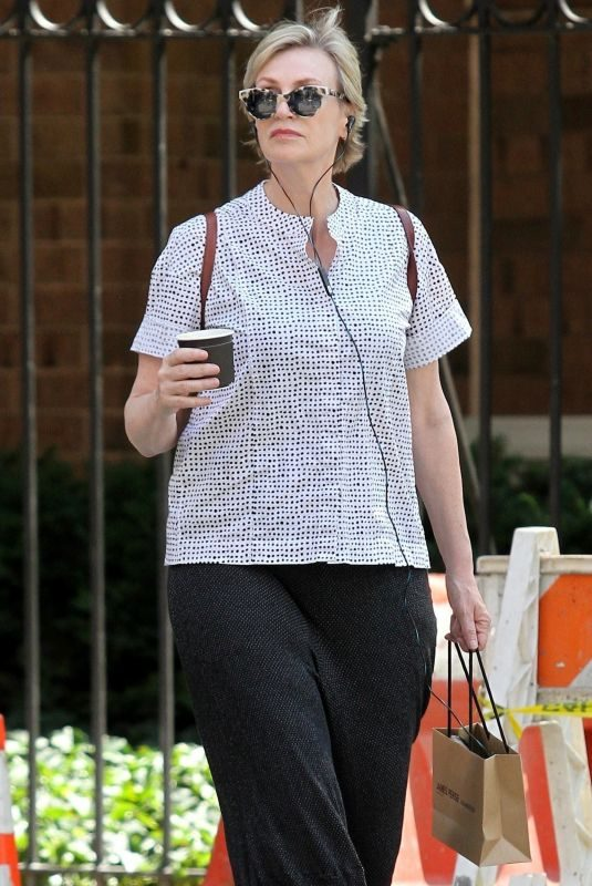 JANE LYNCH Out Shopping in New York 08/14/2018