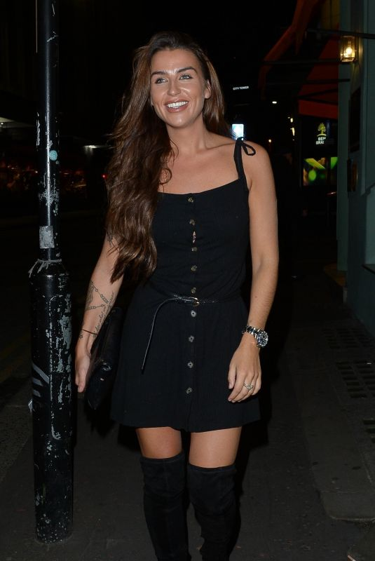 JENNY THOMPSON Night Out in Manchester 08/10/2018