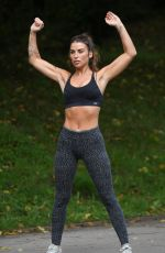 JENNY THOMPSON Working Out at a Park in Manchester 08/19/2018
