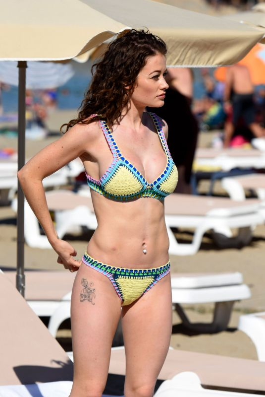 JESS IMPIAZZI in Bikini on the Beach in Ibiza 08/27/2018