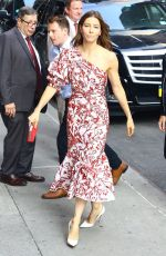 JESSICA BIEL Arrives at Late Show with Stephen Colbert in New York 08/15/2018