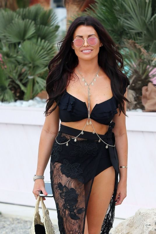 JESSICA WRIGHT in Bikini Out in Ibiza 08/26/2018