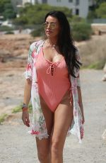 JESSICA WRIGHT in Swimsuit Heading to Beach in Ibiza 08/27/2018