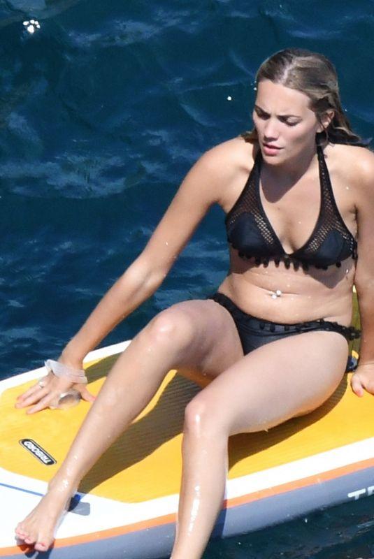 JODIE SPENCER in Bikini on Vacation in Positano 07/26/2018