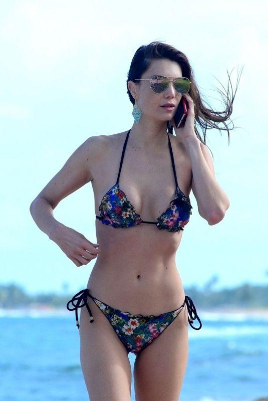 JULIA PEREIRA in Bikini at a Beach in Bahia 08/27/2018