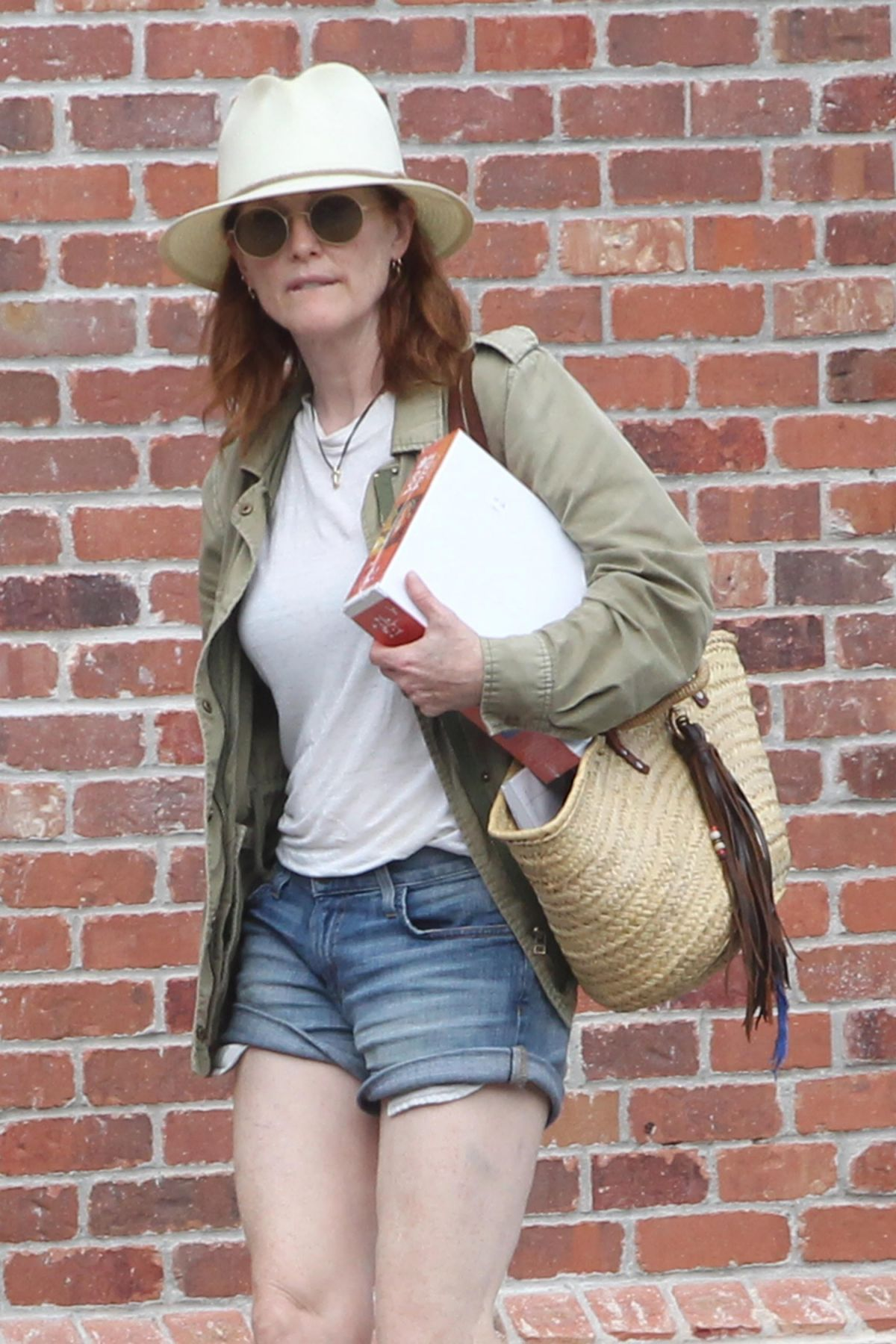 JULIANNE MOORE Out Shopping in New York 08/22/2018 ...