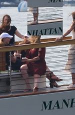 KARLIE KLOSS Out for a Boat Ride in New York 08/16/2018