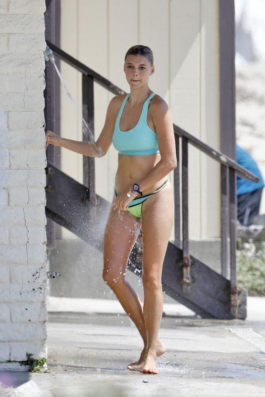 KELLY ROHRBACH in Bikini on the Beach in Malibu 08/01/2018