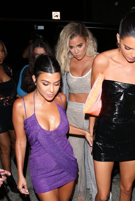 e43e1b297cfa KHLOE KARDASHIAN and KOURTNEY and KENDALL JENNER at Kylie Jenner's 21st  Birthday Dinner at Craig's in West Hollywood 08/09/2018