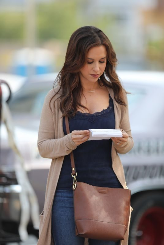 LACEY CHABERT on the Set of Aall of My Heart: The Wedding in Vancouver 08/12/2018