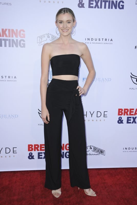LISA CHAMBERLAIN at Breaking and Exiting Premiere in Los Angeles 08/15/2018