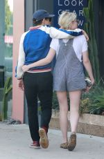 LUCY BOYNTON and Rami Malek Out for Lunch in Hollywood 08/11/2018