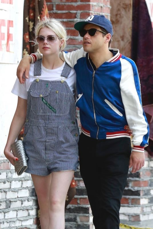 Lucy Boynton And Rami Malek Out For Lunch In Hollywood