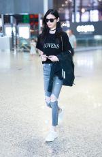 MING XI at Airport in Shanghai 08/27/2018