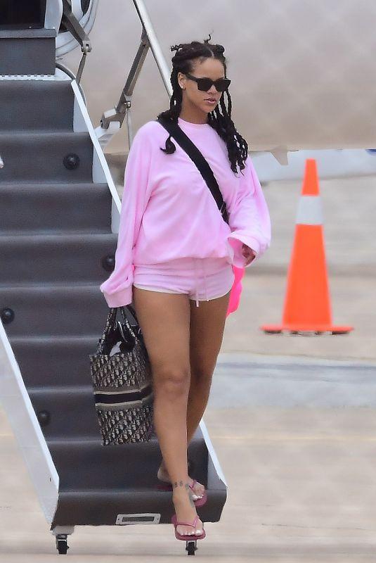 RIHANNA at Airport in Barbados 08/19/2018