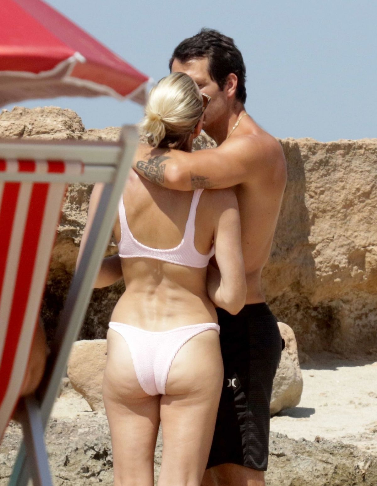 Robin Wright In Bikini At A Beach In Formentera