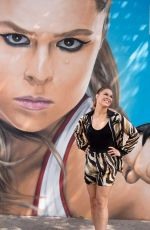 RONDA ROUSEY at Her Mural in New York 08/17/2018