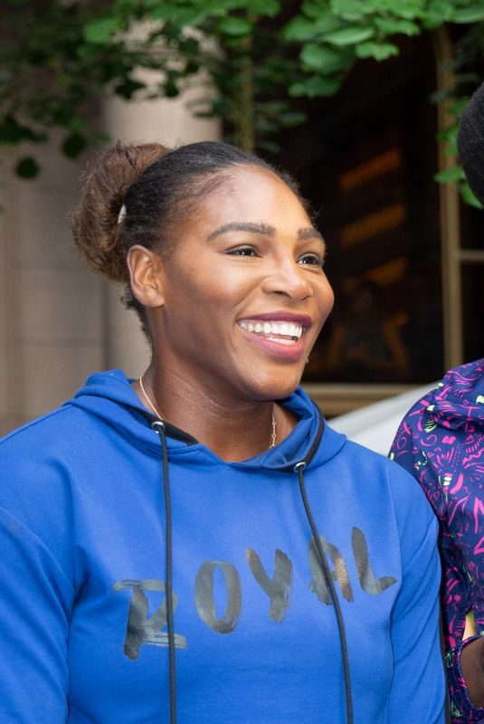 SERENA and VENUS WILLIAMS at 2018 Lotte New York Palace Invitational 08/23/2018