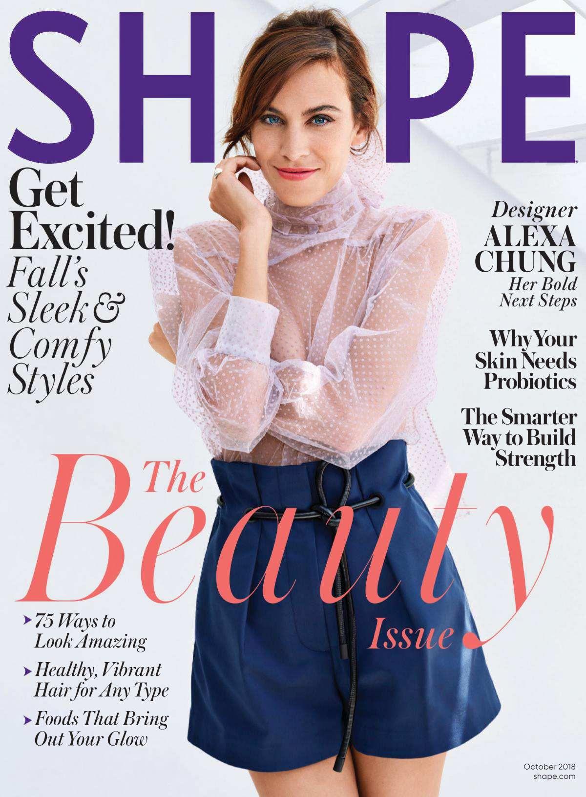 Alexa Chung Shape Magazin, October 2019