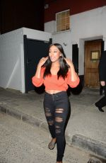 ALEXANDRA BURKE Leaves Phoenix Theatre in London 09/03/2018