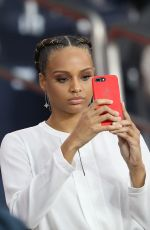ALICIA AYLIES at PSG vs Rennes Soccer Match in Paris 09/26/2018