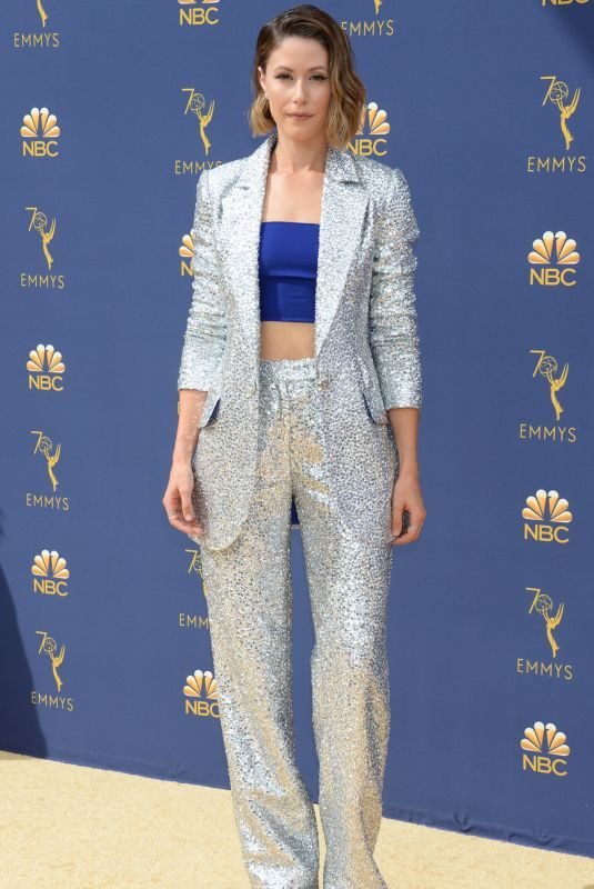 AMANDA CREW at Emmy Awards 2018 in Los Angeles 09/17/2018