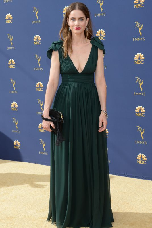 AMANDA PEET at Emmy Awards 2018 in Los Angeles 09/17/2018