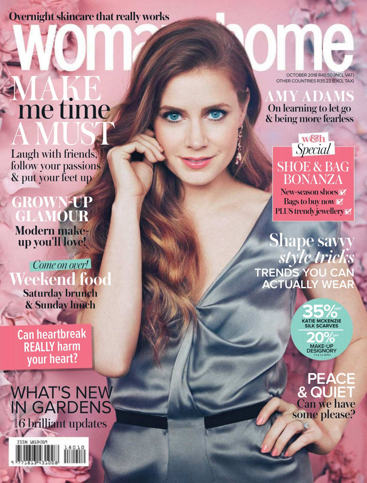 Amy Adams In Woman Home Magazine South Africa October 2018