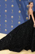 ANGELA SARAFYAN at Emmy Awards 2018 in Los Angeles 09/17/2018