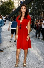 ANNA SARONCIK Arrives at Alberta Ferretti Show at Milan Fashion Week 09/19/2018