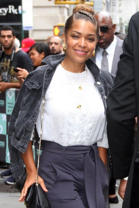 ANTONIA THOMAS Arrives at AOL Build Series in New York 09/26/2018