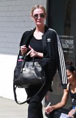 ASHLEE SIMPSON Leaves Tracy Anderson Gym in Studio City 09/26/2018