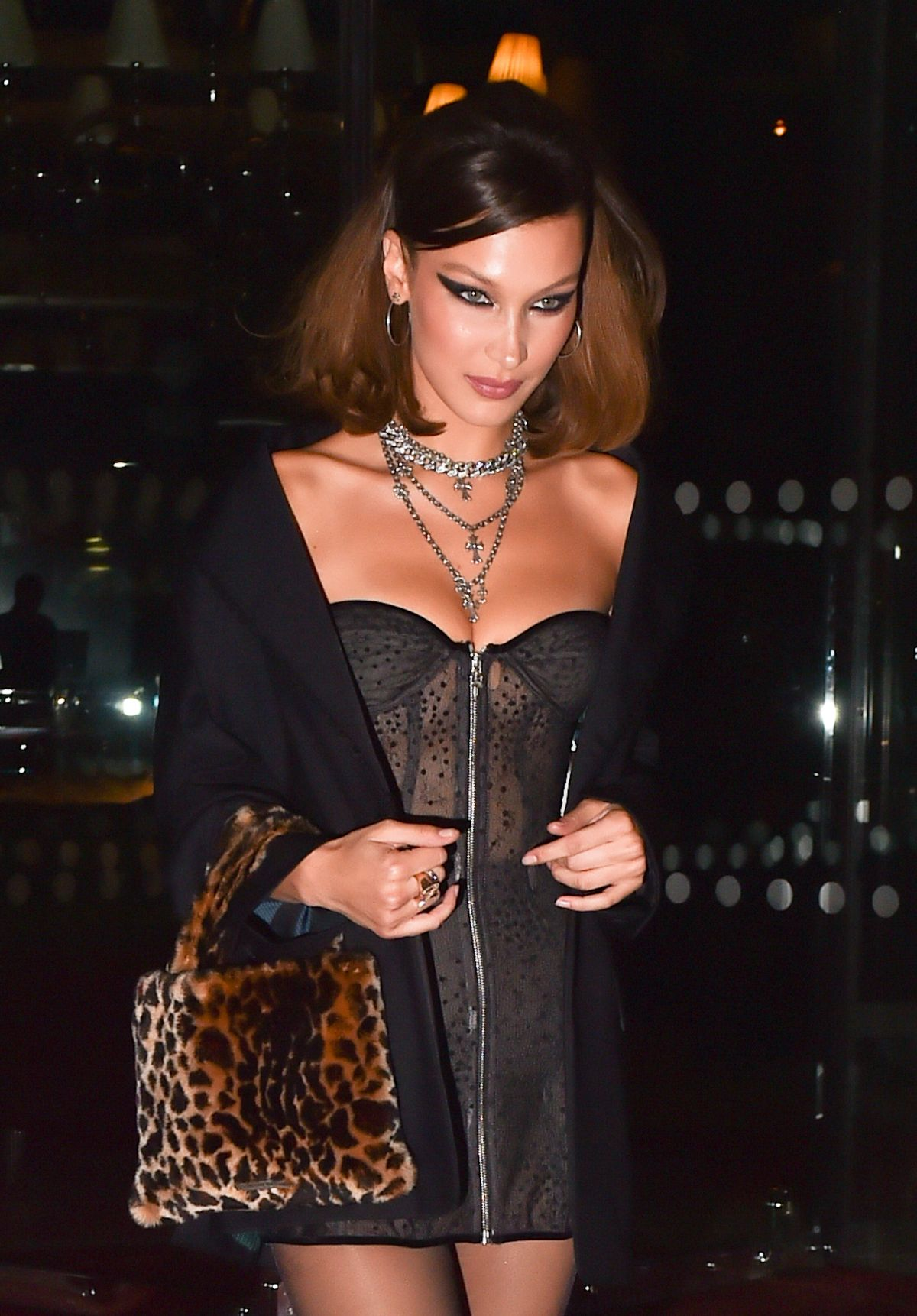 Bella Hadid Arrives At Chrome Hearts Event In Paris 09 25 2018