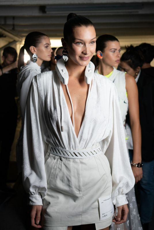 BELLA HADID at Ooff-white Show at Paris Fashion Week 09/27/2018