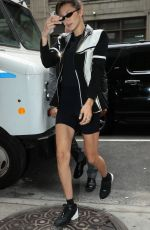 BELLA HADID Out in New York 09/08/2018